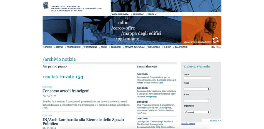Ordine architetti di Milano concorsi