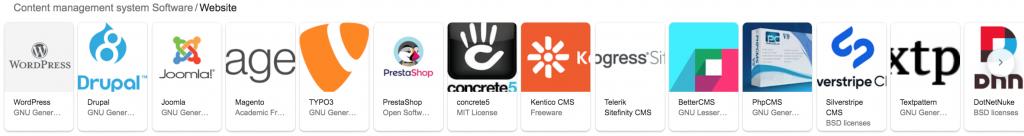 CMS per creare un sito web