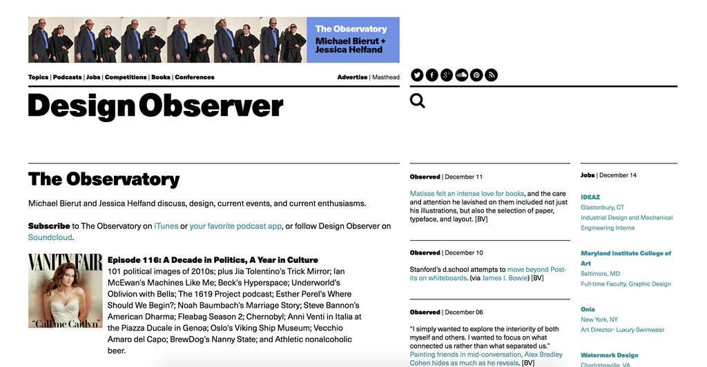 Design Observer The Observatory