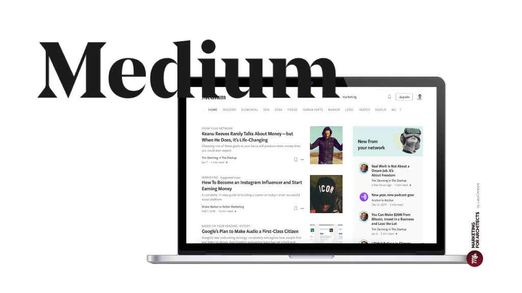 Medium-Blog - Marketing for Architects