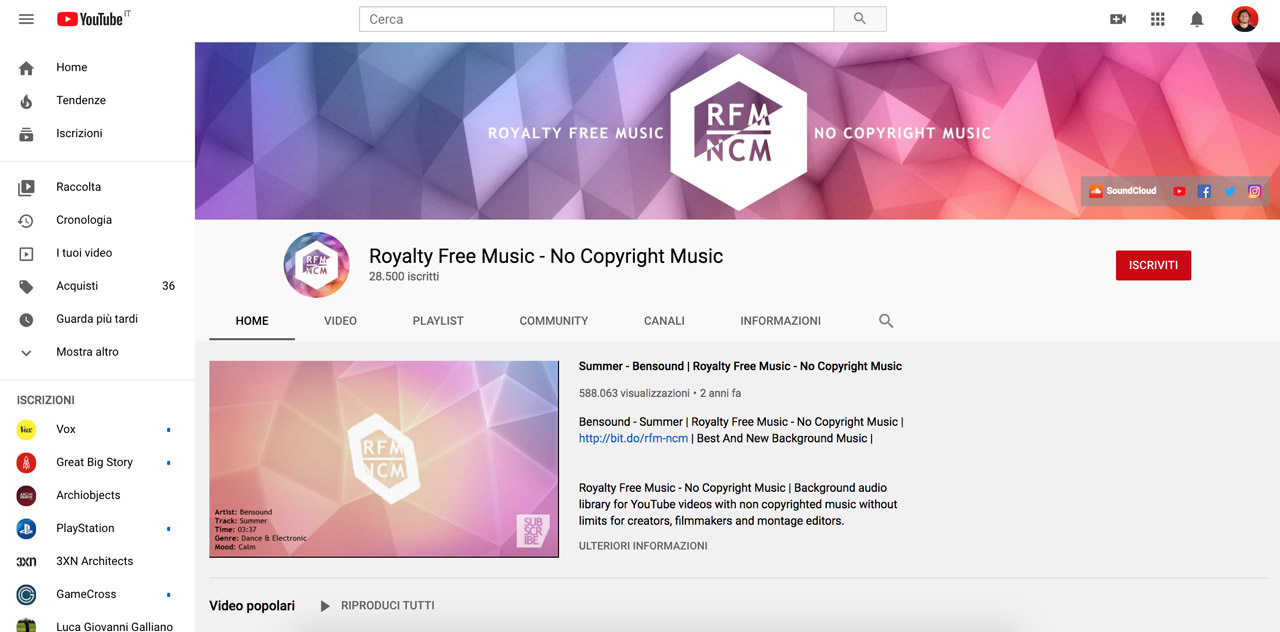 Royalty Free Music Youtube