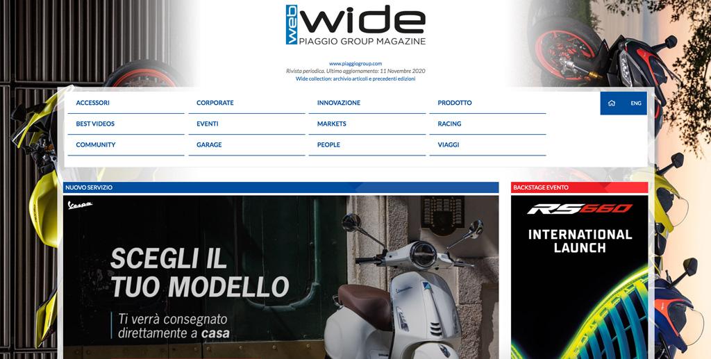 Wide Magazine Piaggio