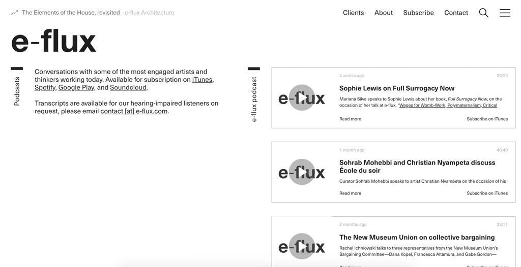 e-flux Podcasts